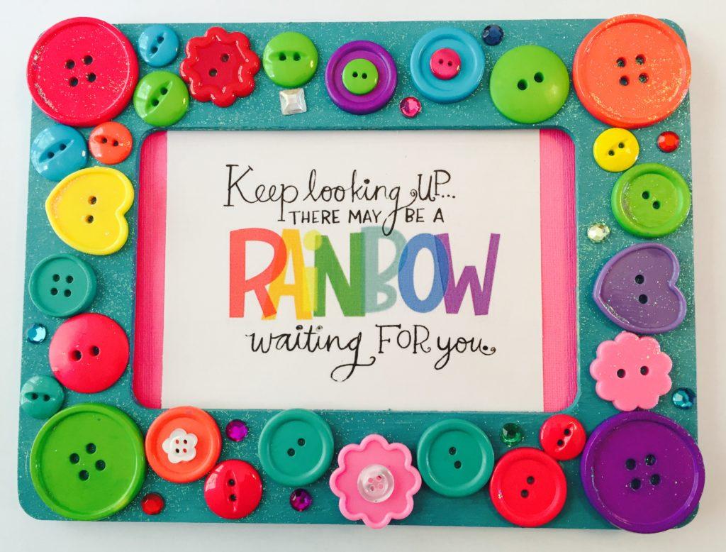 Rainbow Button Frames