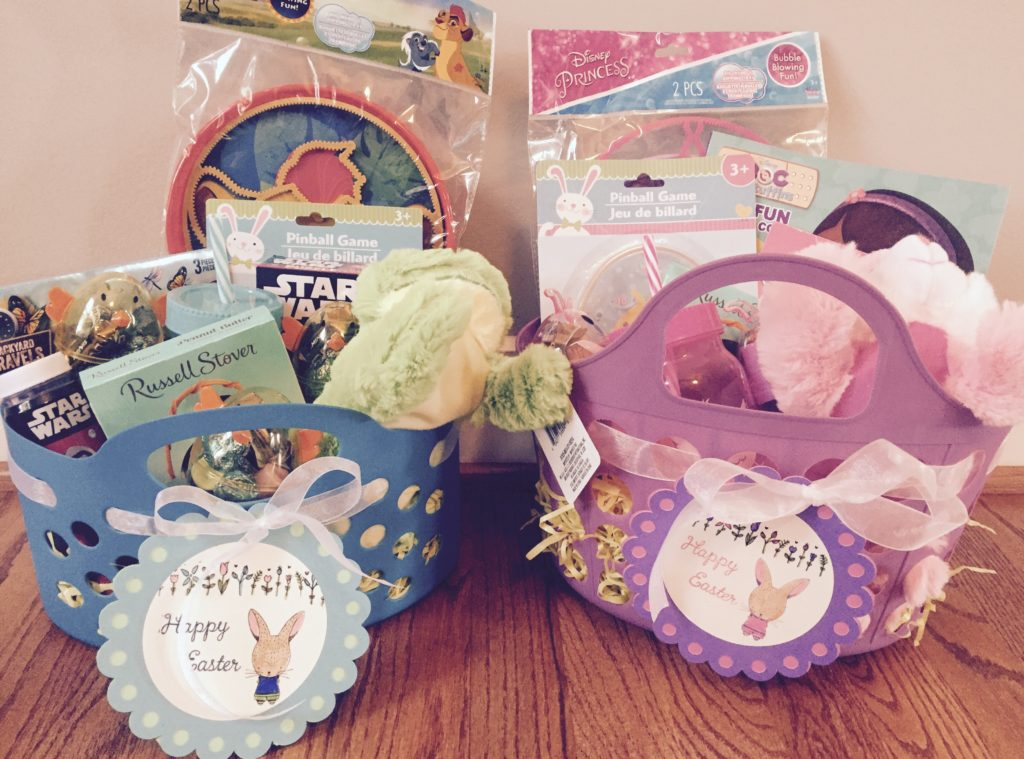 Dollar Tree Easter Baskets - Make amazing Easter baskets really inexpensive with items from Dollar Tree! So many fun basket fillers for only $1! I used bubbles, stuffed animals, summer toys, and more!