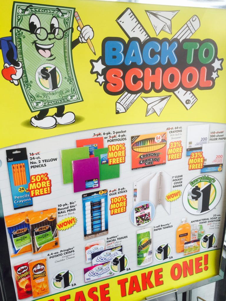 Dollar Tree Back To School Shopping
