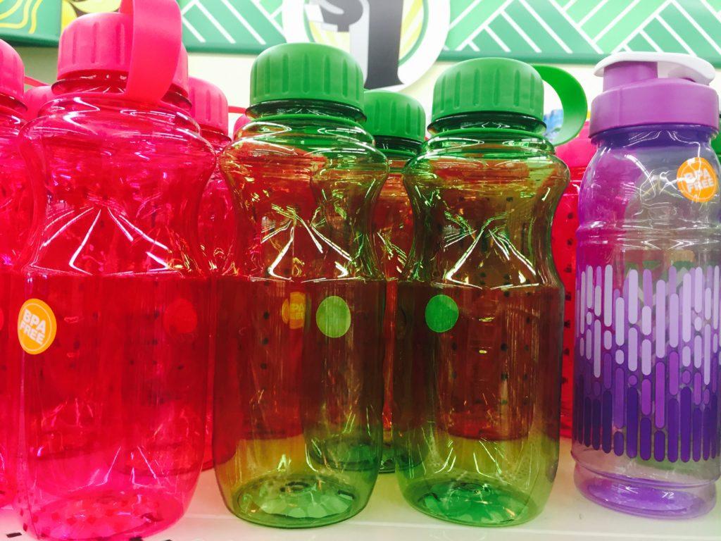 water bottles from dollar tree