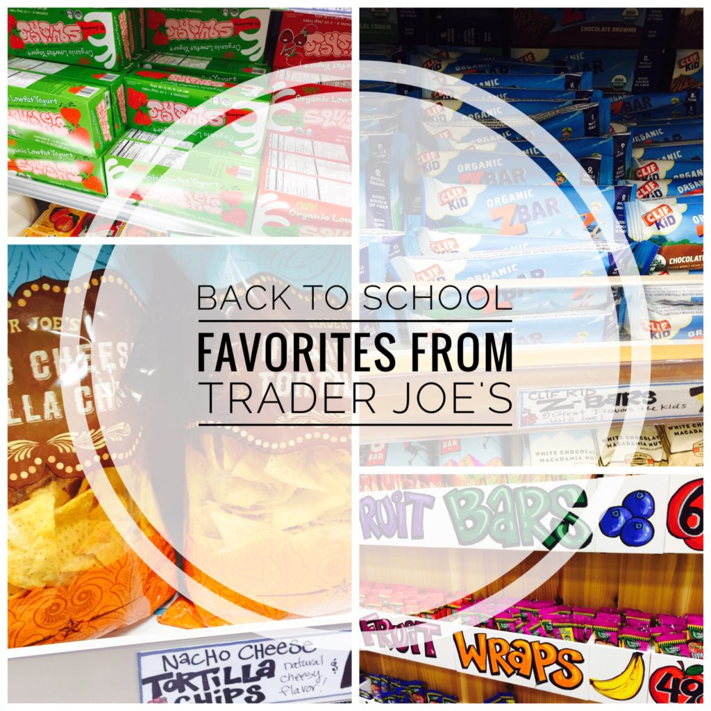 Great snacks for school from Trader Joe's!
