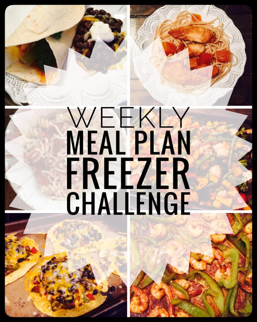 Weekly Meal Plan Freezer Challenge to help stock your freezer the easy way with leftovers.