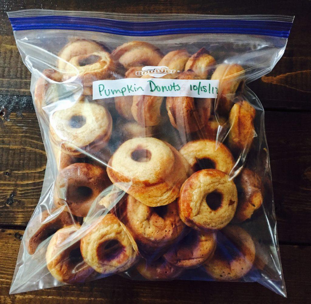 Pumpkin Mini Donuts from Trader Joe's Pancake Mix