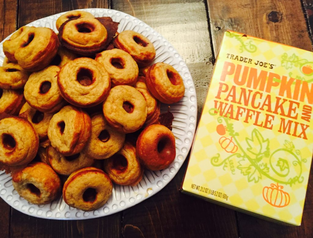 Pumpkin Mini Donuts from Trader Joe's Pancake Mix