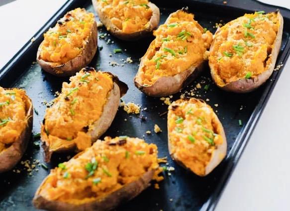 Twice Baked Whole 30 Sweet Potatoes