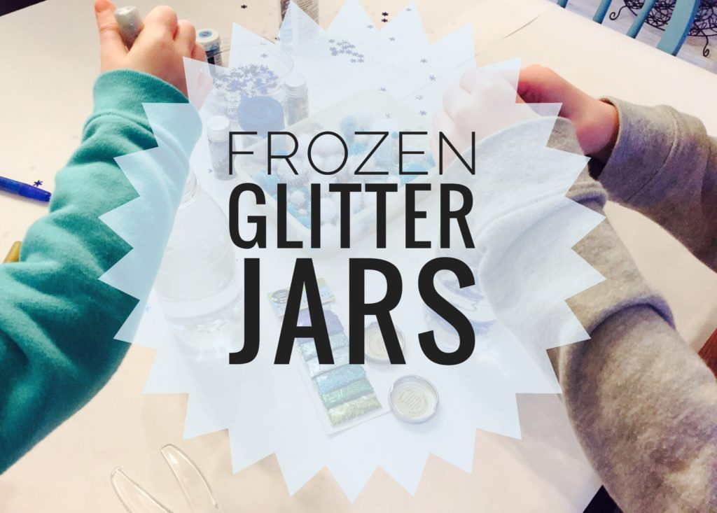 Frozen Glitter Calm Down Jars