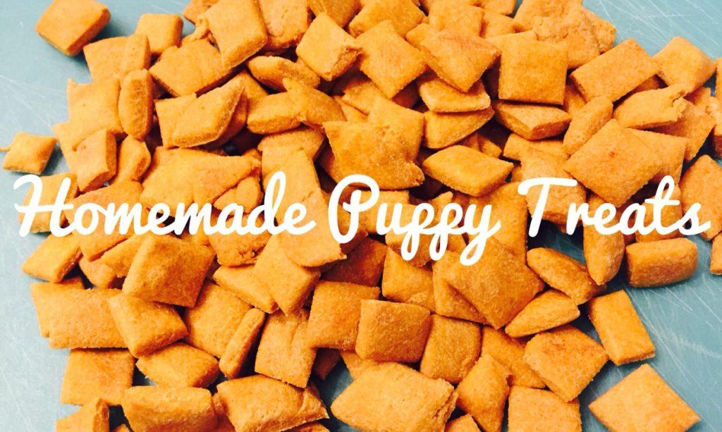 Homemade Puppy Treats #puppytreats