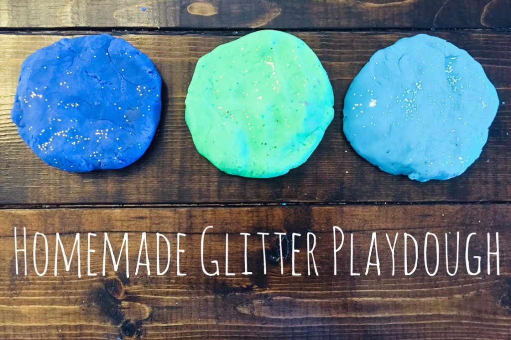 homemade glitter playdough