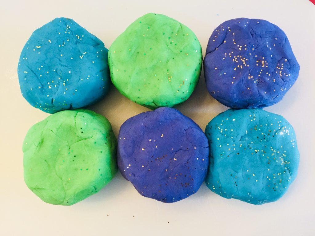 Homemade Glitter Play Dough