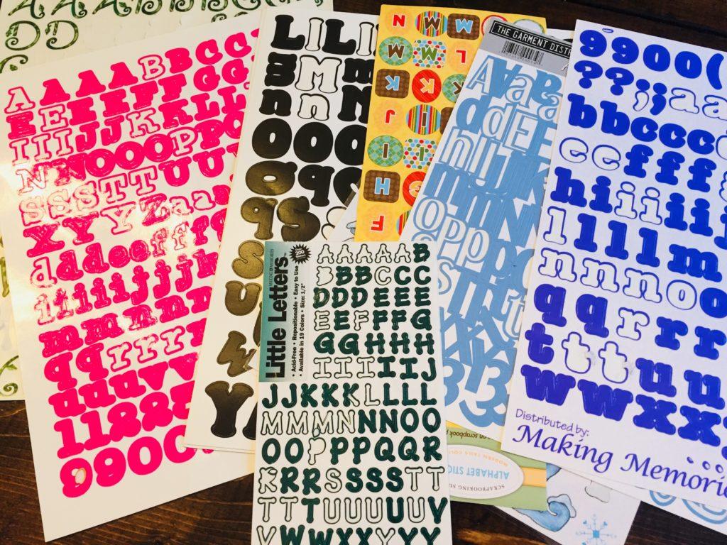 alphabet stickers preschool activity