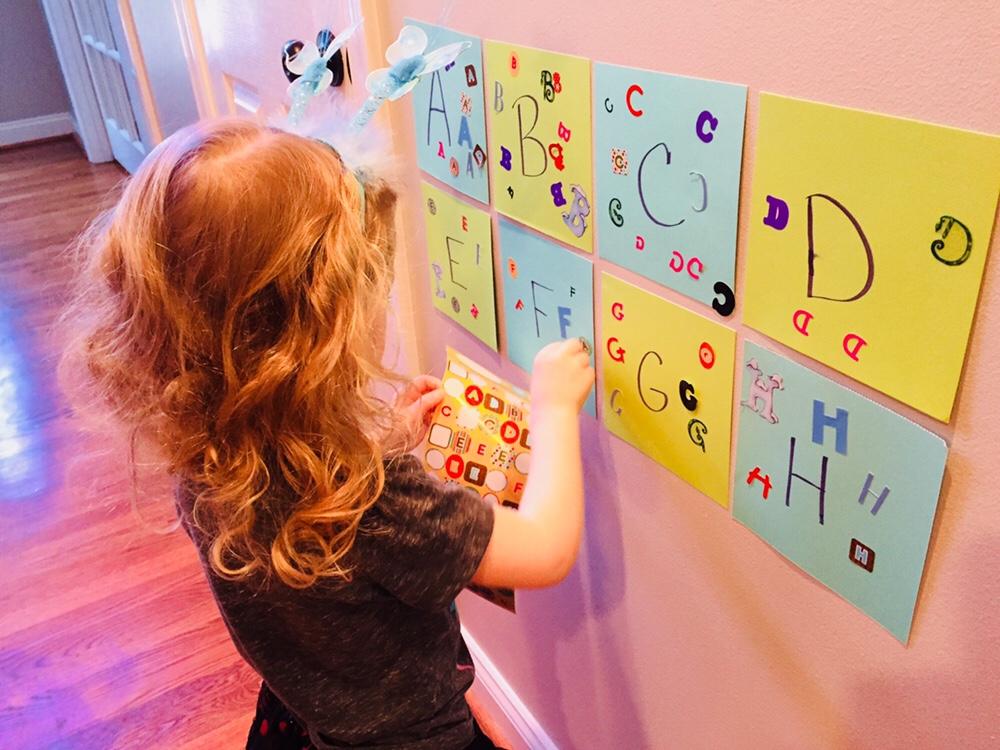 Alphabet Sticker Matching