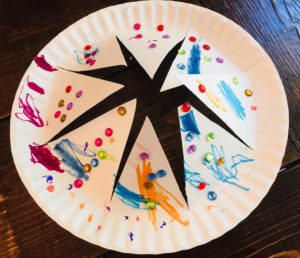 paper plate crowns - easy and cheap craft