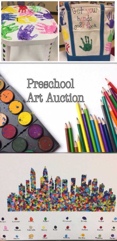 Preschool Artwork for a charitable event - Preschool Art Auction