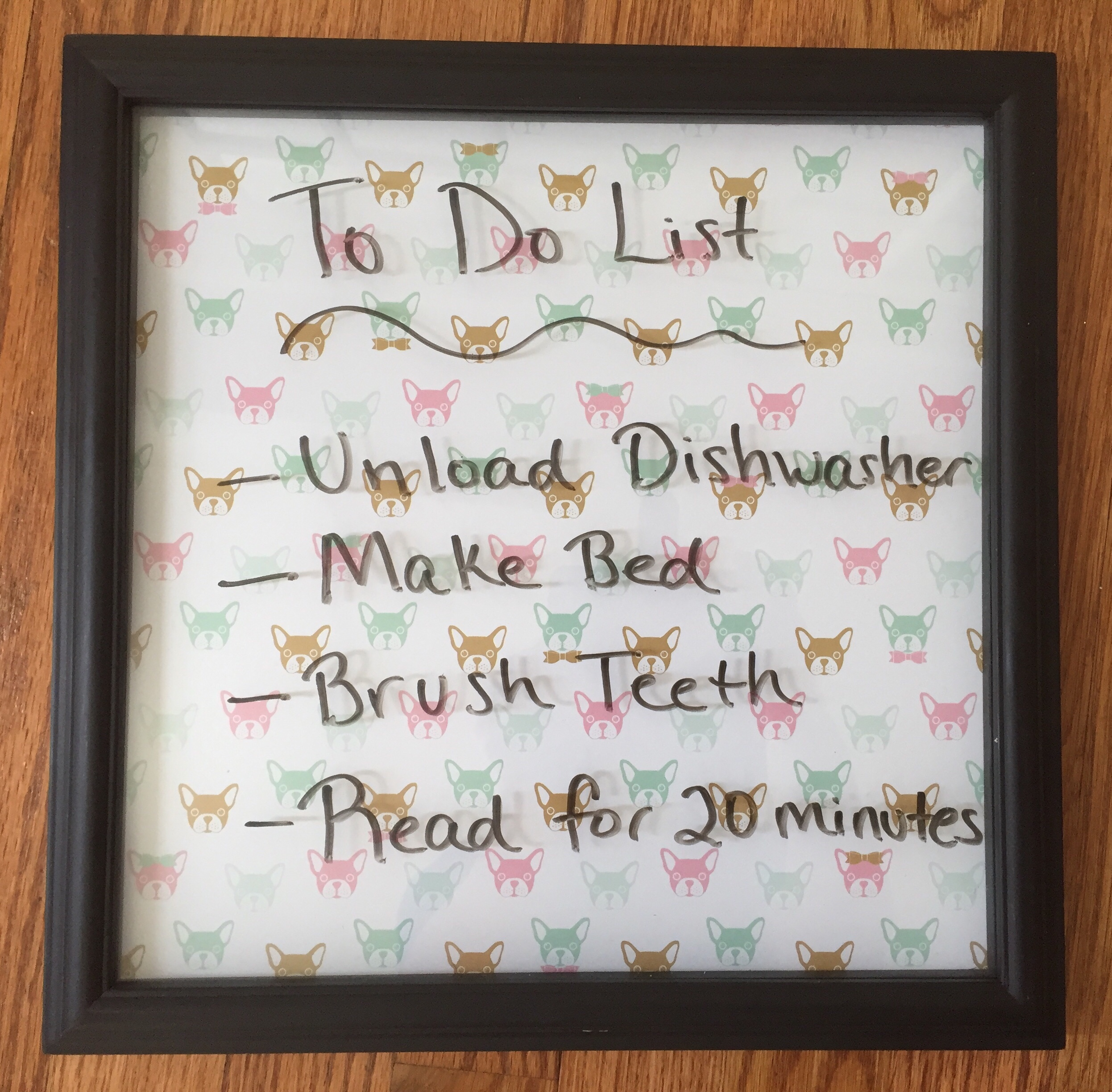 Diy Dry Erase Menu Board Glitter On A Dime