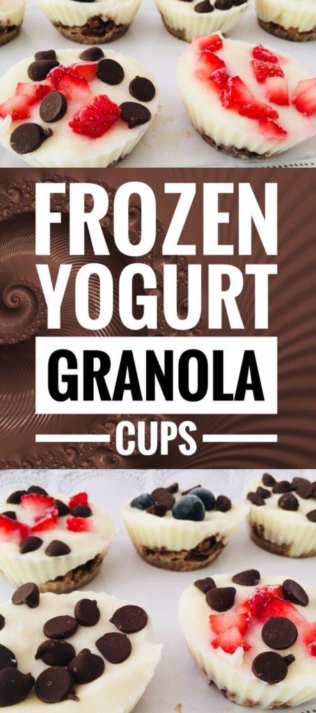Frozen Yogurt Granola Cups - fun & healthy summer treat!