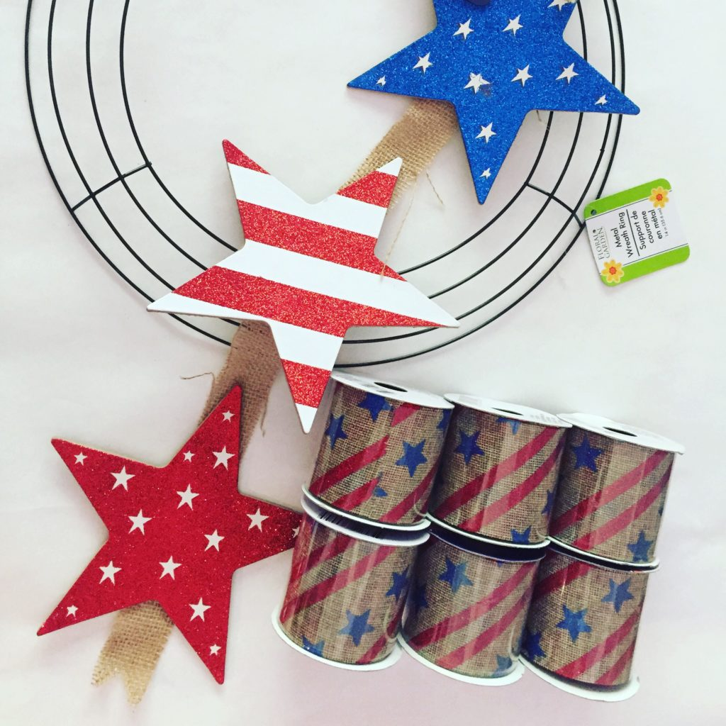 Simple Dollar Tree Patriotic Wreath