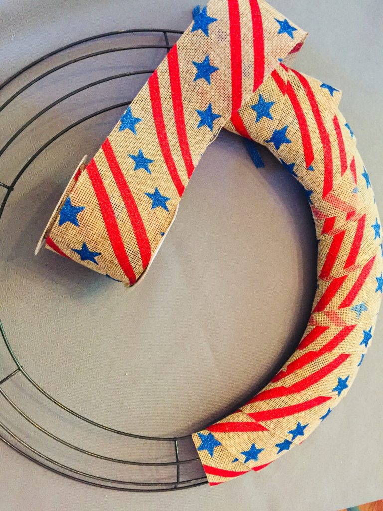 Simple Dollar Tree Patriotic Wreath