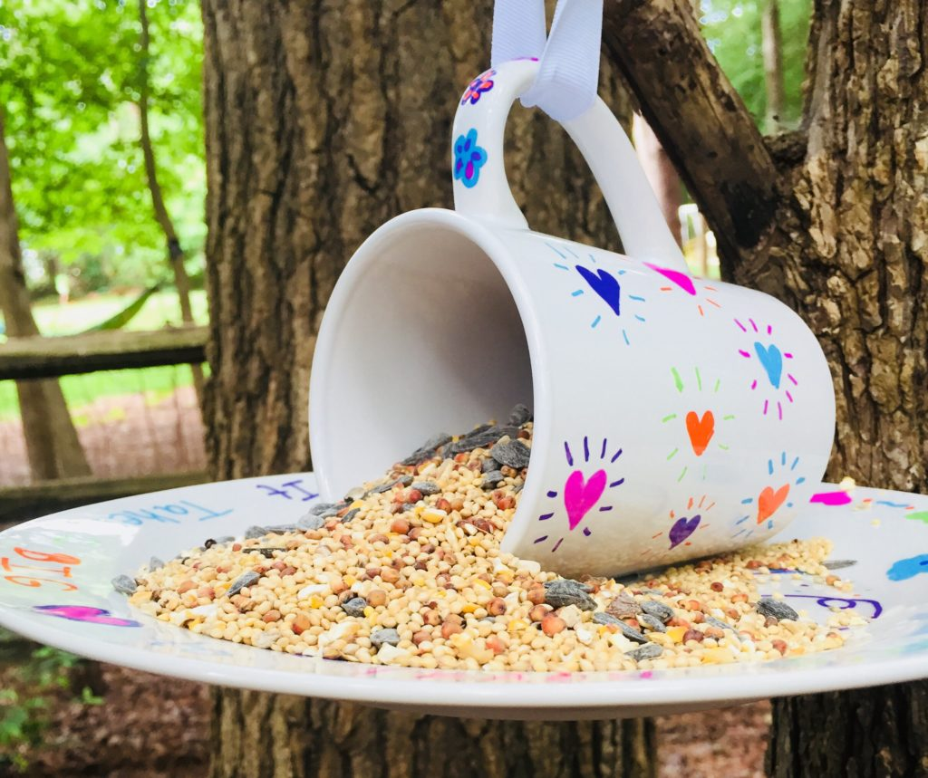 Sharpie Mug Bird Feeder Craft