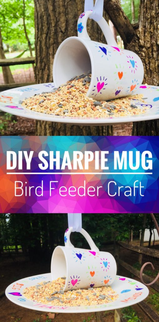DIY Sharpie Mug Bird Feeder Craft