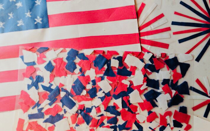 Fourth of July Place Mat Craft