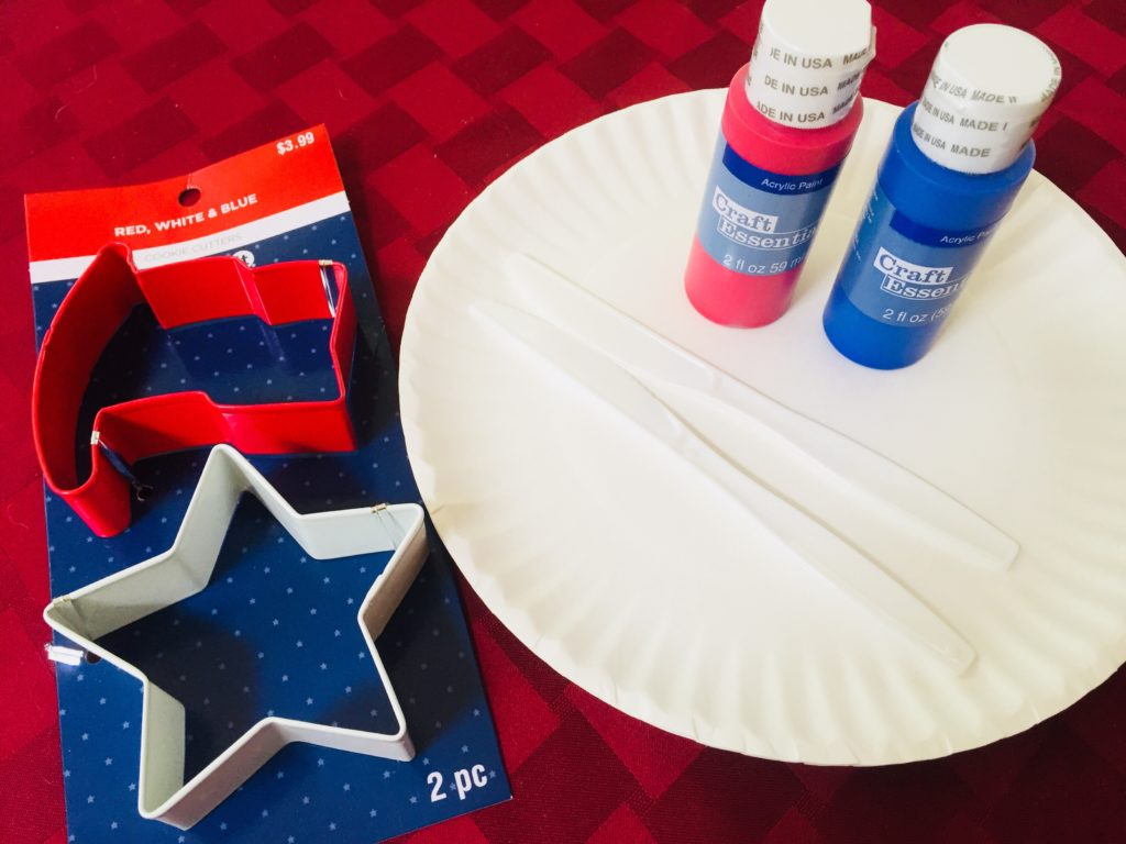 Patriotic Cookie Cutter Painting is an easy and fun preschool activity!