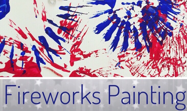 Fireworks Painting is a quick and easy Patriotic Craft for kids!
