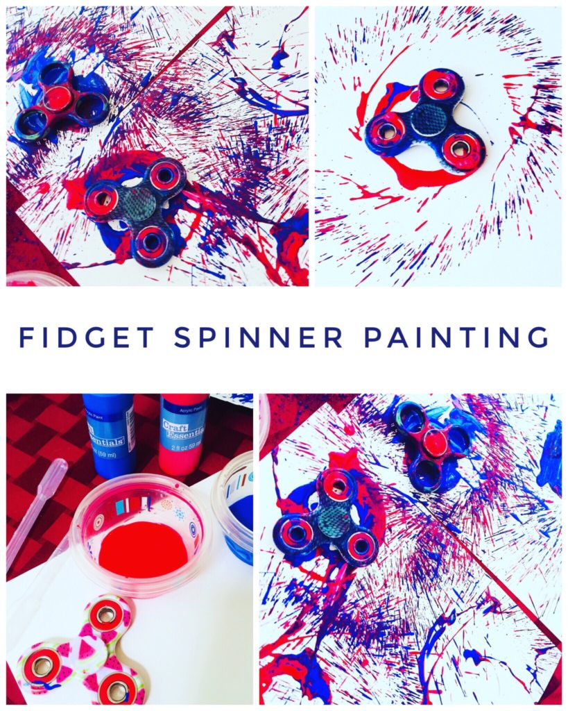 Fidget Spinner Painting is a super cool activity for kids or adults!
