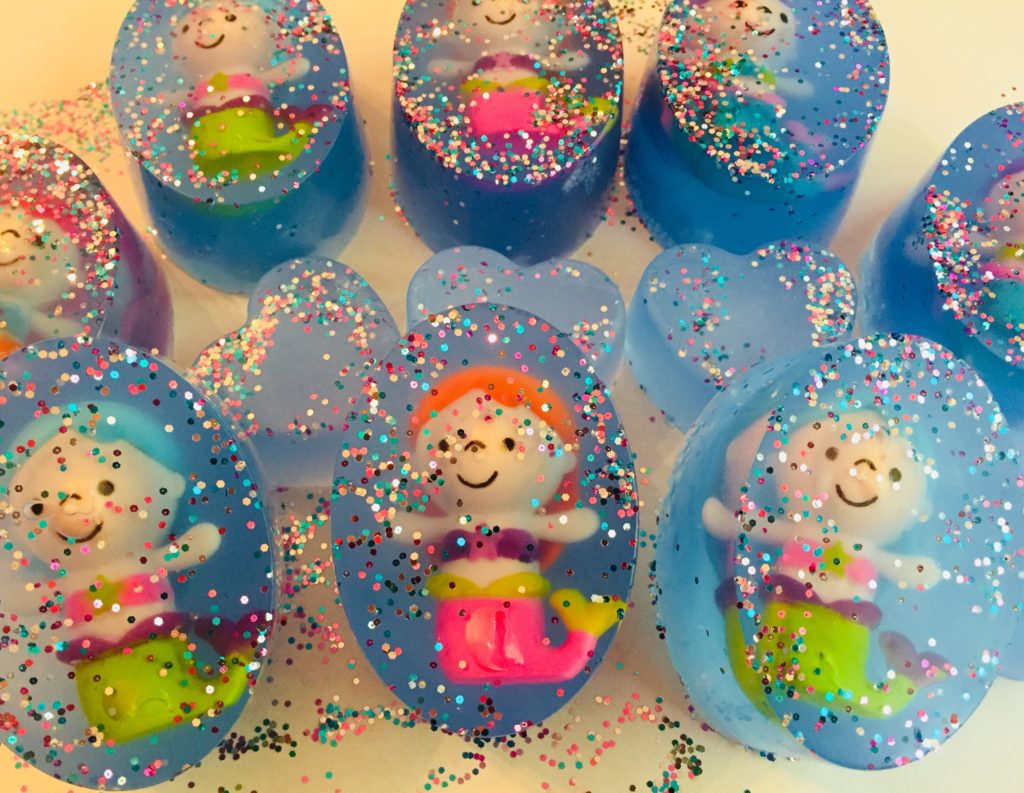Blue Mermaid Glitter Soap