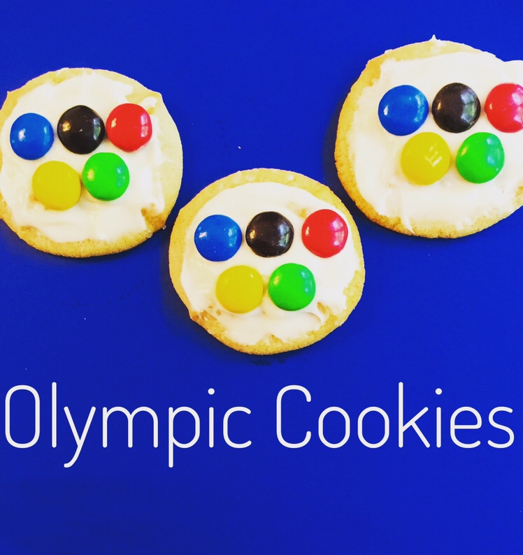 Olympic Cookies are super easy to make and a fun treat if you are celebrating or learning about the Olympics!