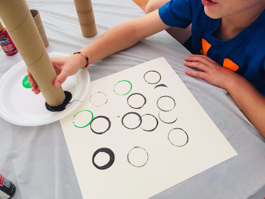Olympic Ring Circle Painting