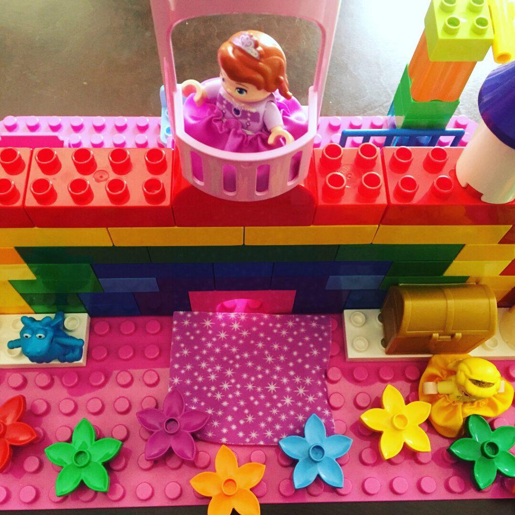 rainbow lego castle