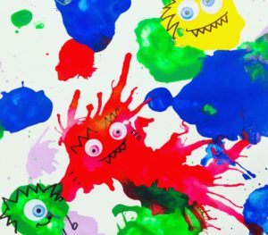 Monster Blow Painting