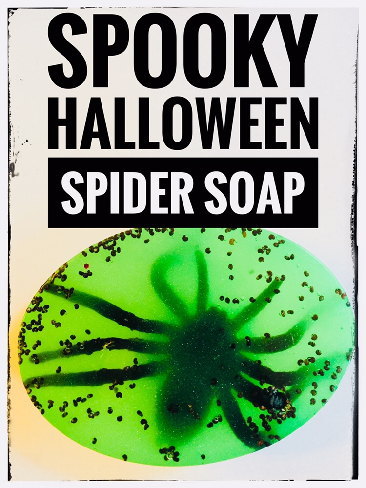 Spooky Halloween Soap - Easy to make with cheap plastic spiders!
