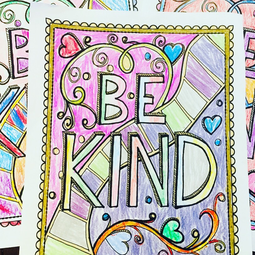 Free Printable Kindness Coloring Page