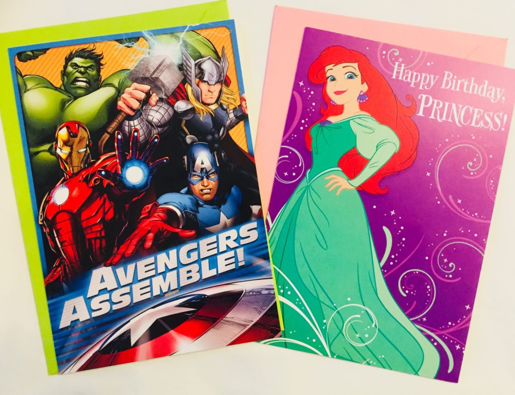 Character Cards by Hallmark sold at Dollar Tree