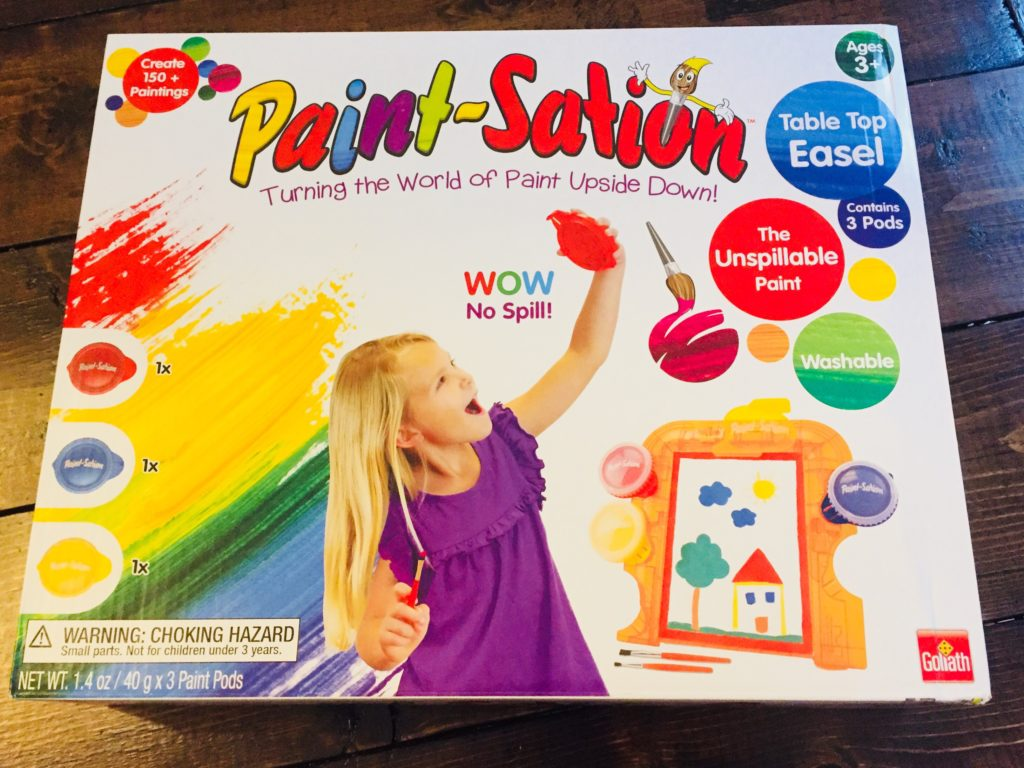 Paint-Sation mess free painting activity for kids