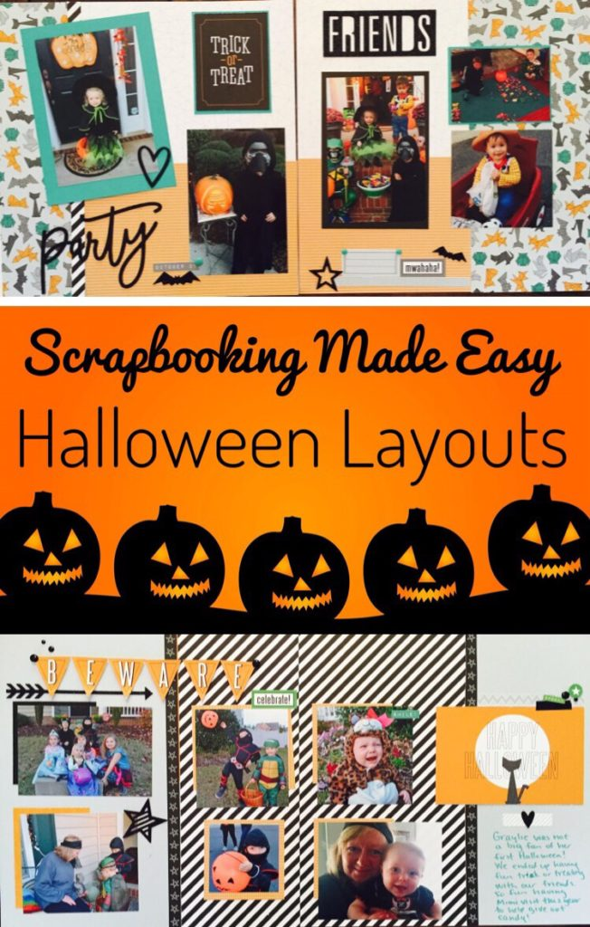 Fun and Easy Halloween Scrapbooking Layouts