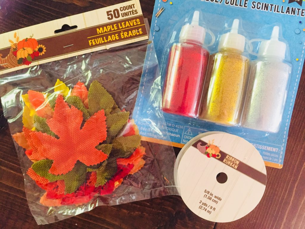 Fall Crafting Supplies from Dollar Tree