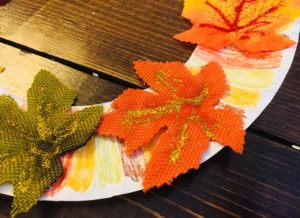 Glitter Fall Leaves Craft