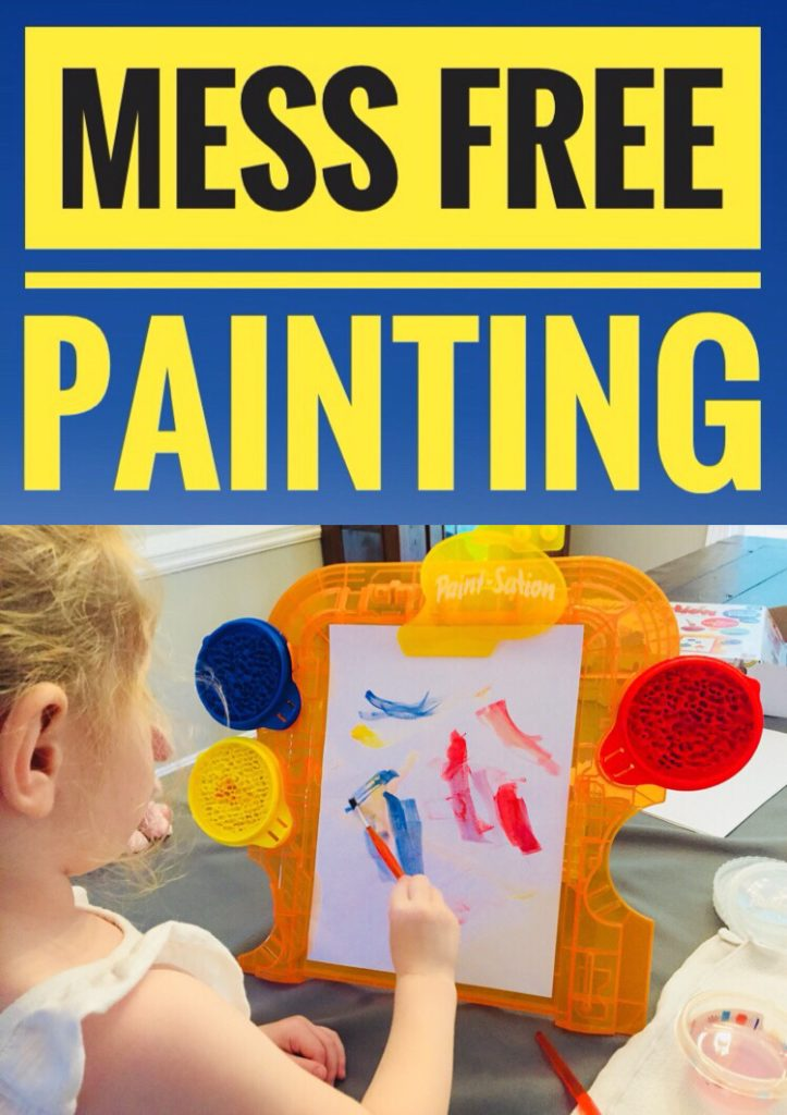 Paint-Sation mess free painting activity for kids! It's a total mom win and perfect for preschoolers who love to paint.