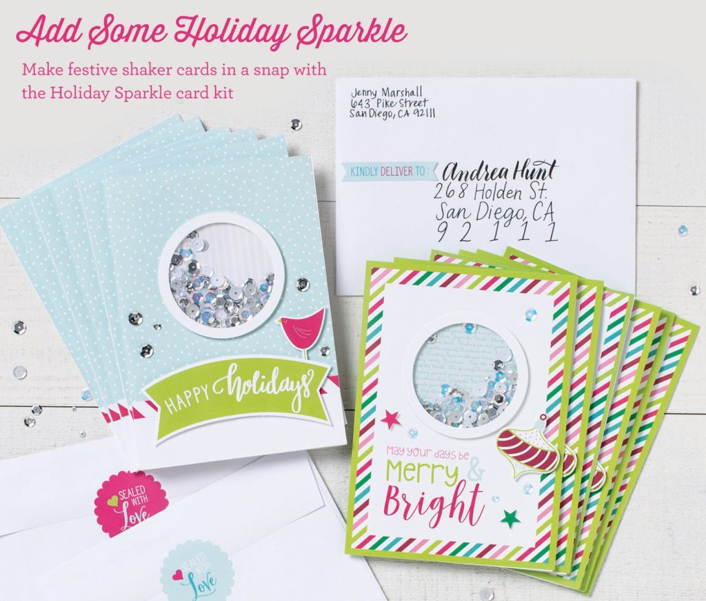 Holiday Sparkle Shaker Card Kit