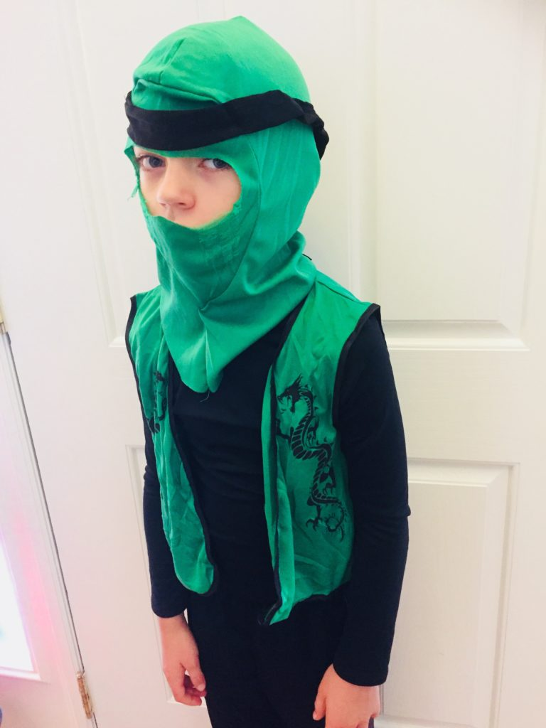 Ninja Costume from Dollar Tree
