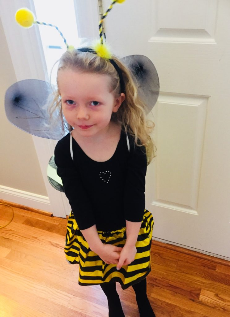 Bumblebee costume from Dollar Tree