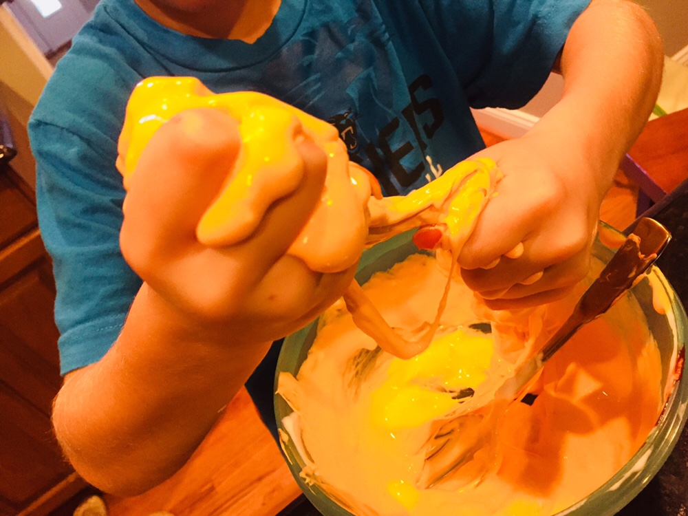 Fluffy Orange Halloween Slime