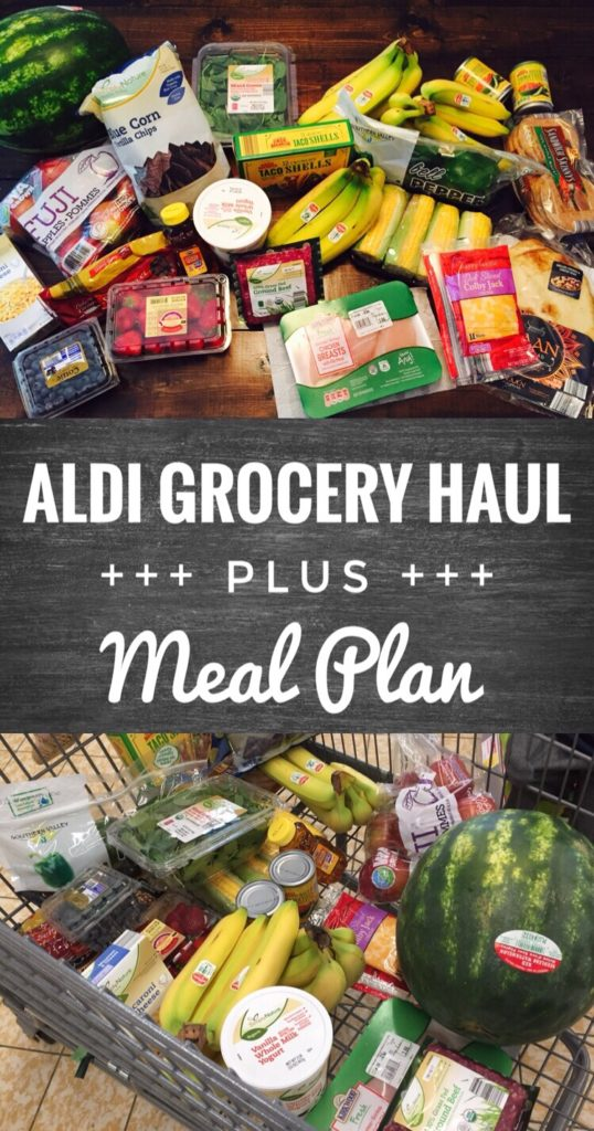 Aldi Grocery Haul and Meal Plan - Save money and stay on budget by grocery shopping at Aldi.