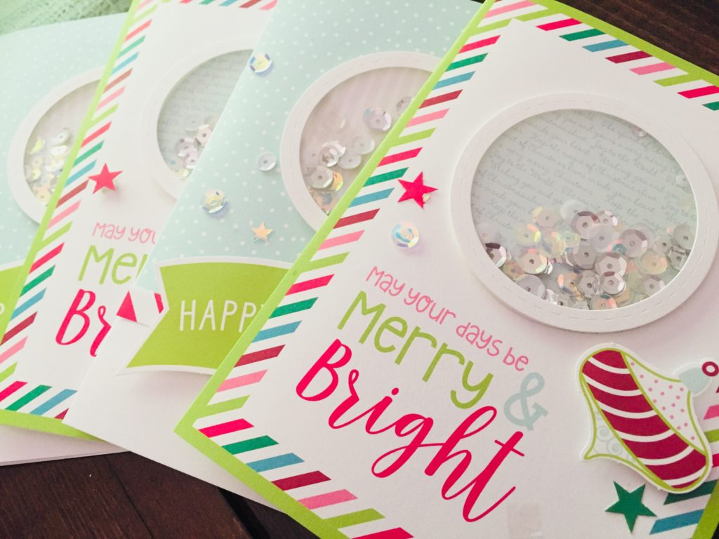 Holiday Sparkle Shaker Cards