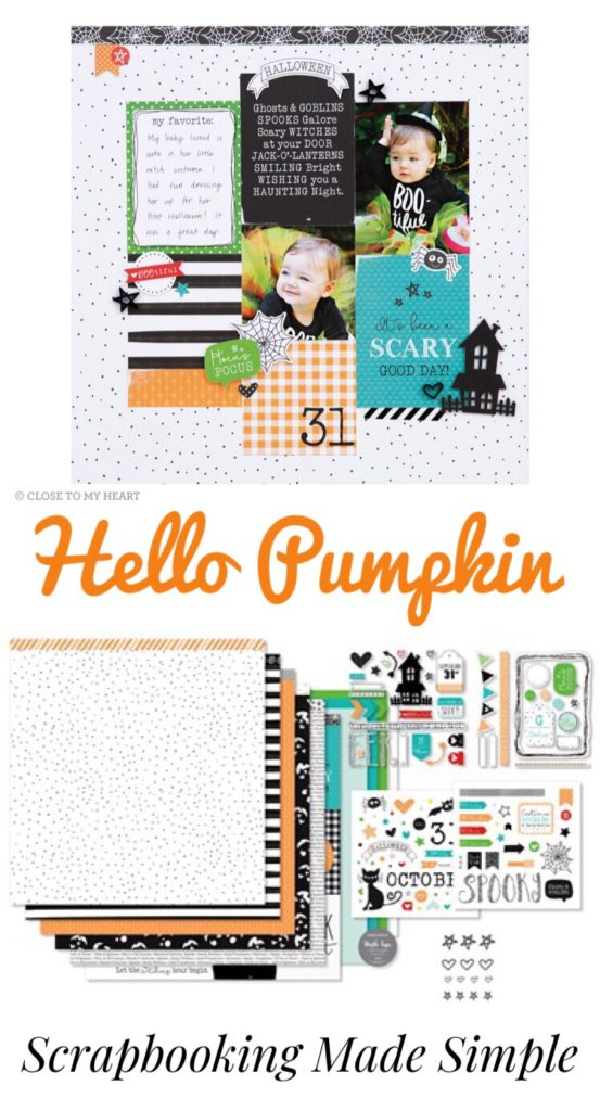 Use this super cute Halloween scrapbooking kit to document your photos! The Hello Pumpkin Collection by Close to My Heart is so adorable and perfect for all your fall memories!