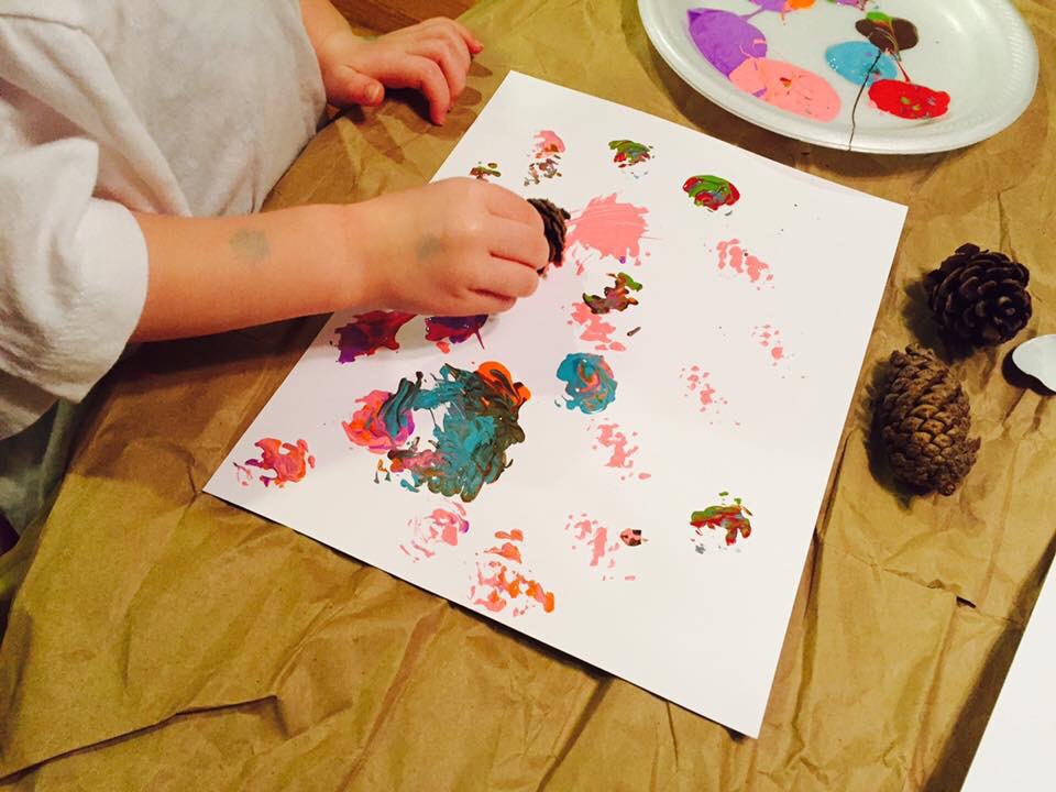 Pine Cone Painting Turkey Craft