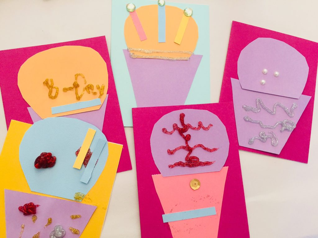 Cupcake Card Playdate Craft