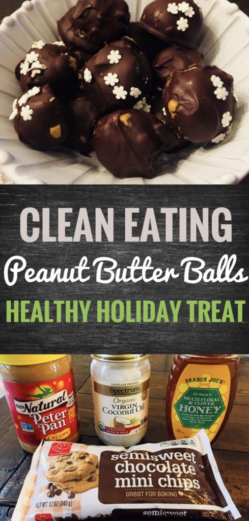 Get through the holidays with these yummy Clean Eating Peanut Butter Balls. They are actually a healthy holiday treat!